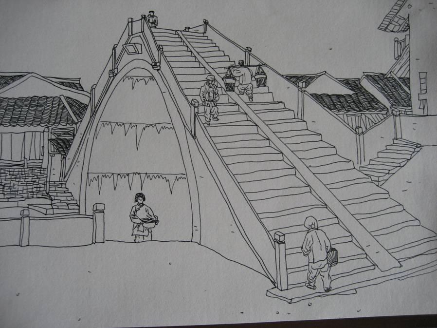素描桥的步骤图片